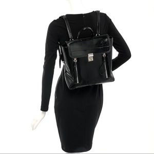 3.1 Phillip Lim Black Patent Leather Backpack